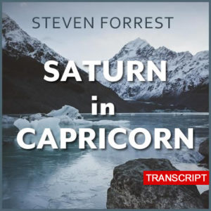 Saturn in Capricorn transcript