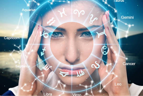 woman learning astrology